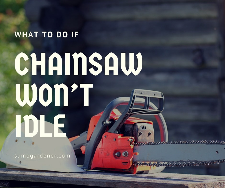 What to do if Your chainsaw won't idle