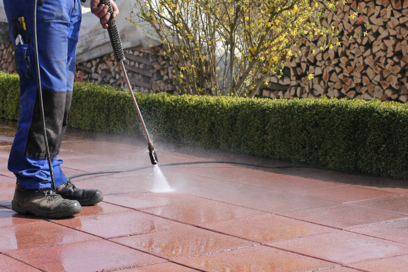 Cleaning the Flagstone Stains