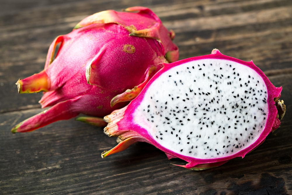 Cutting the Dragon Fruit Open