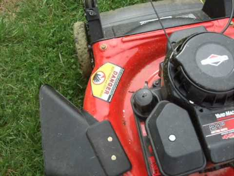 adjust Speed of Throttle lawn mower