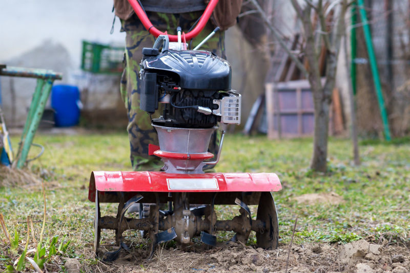 What is a garden tiller?