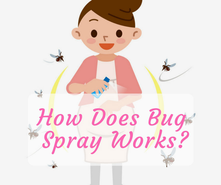 How does bug spray works