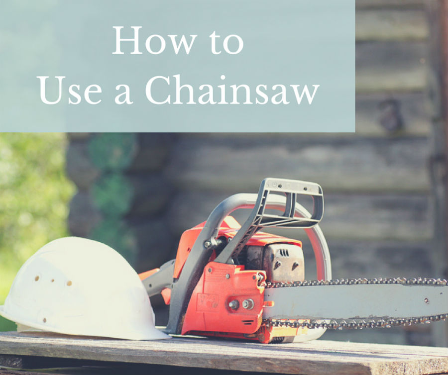 How to use a chainsaw safely