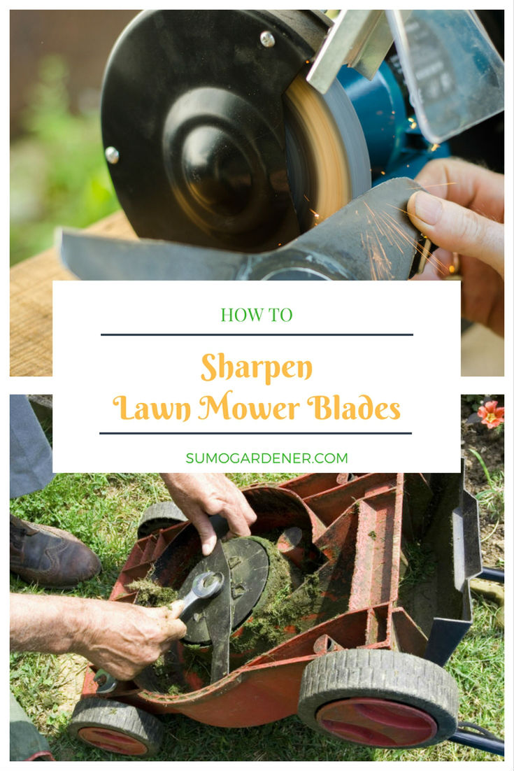 Sharpen lawn mower blades - pinterest
