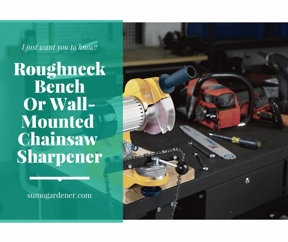 Roughneck Bench Or Wall-Mounted Chainsaw Sharpener