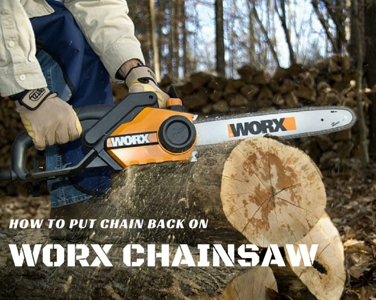 How to put chain back on worx chainsaw sumo gardener greentooth Choice Image