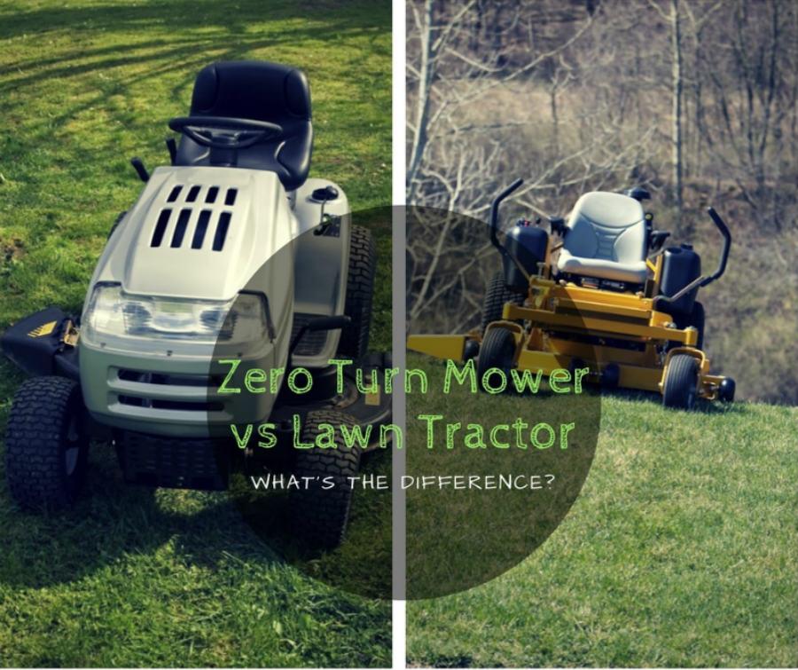 Zero turn mower vs lawn tractor