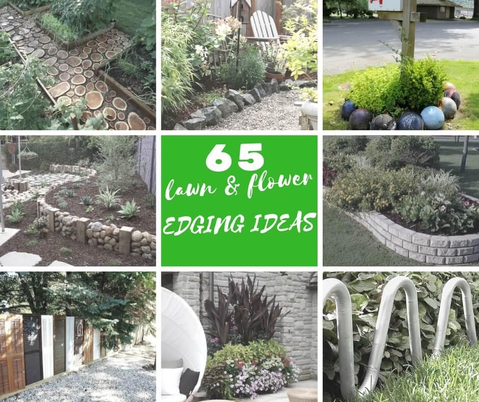 65 Lawn & Flower Edging Ideas