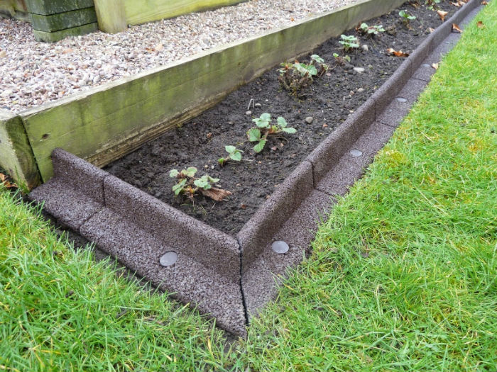 diy concrete landscape edging