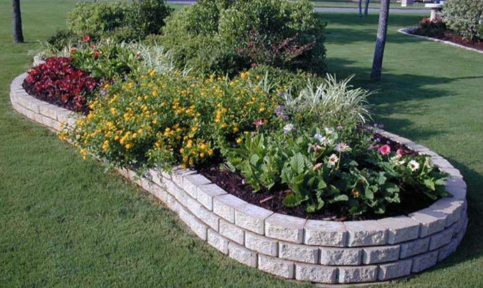 Raised Brick Flower Beds