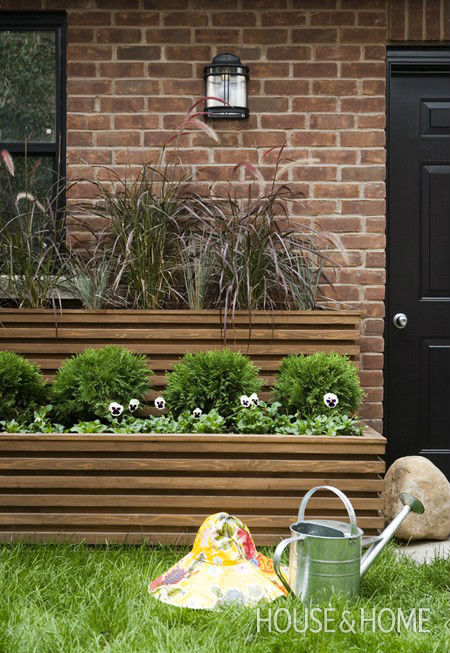 Front Yard Planter Boxes