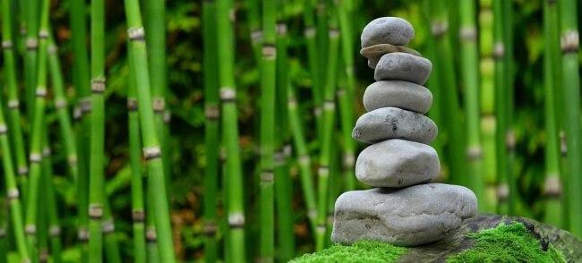 Pile of stones decoration