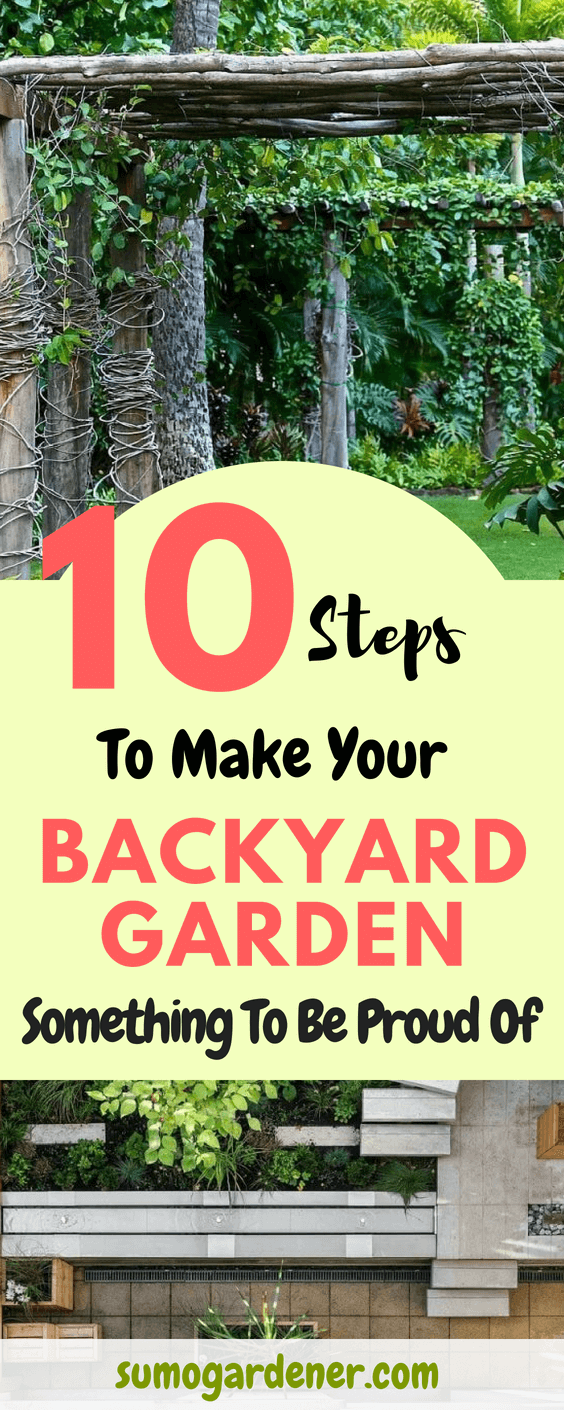 Steps To Make Your Backyard Garden Something To Be Proud Of