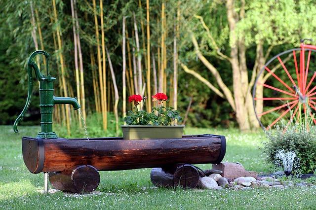 water feature in your garden