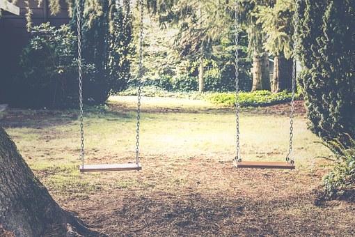 Swing in Backyard