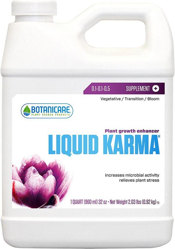 Botanicare LIQUID KARMA Plant Growth Enhancer Supplement 0.1-0.1-0.5 Formula, 1-Quart