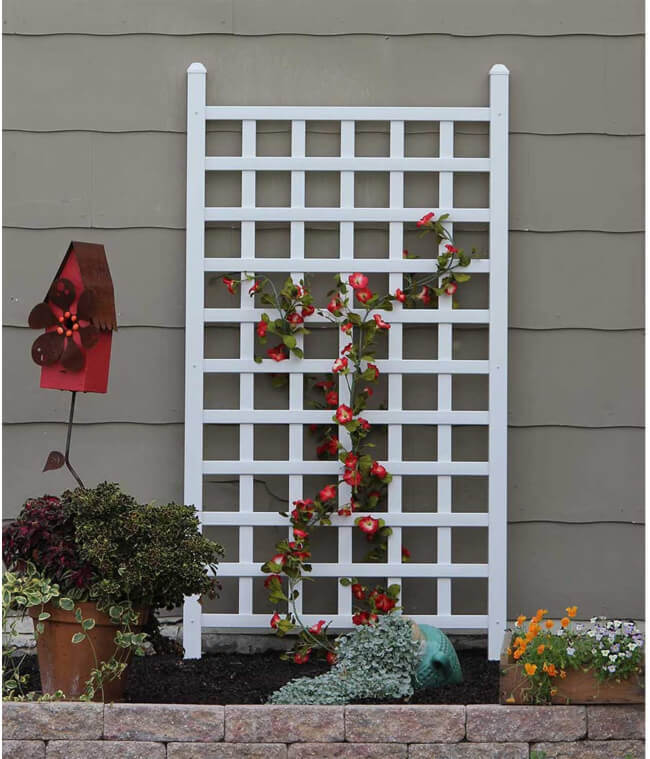 Lattice is great for covering up a troubled spot on your house