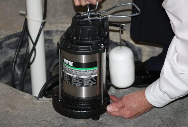 using sump pump in your garden pond