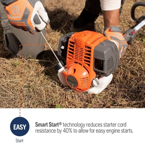 Husqvarna 324L 4-Cycle 18in Cutting Path Gas String Trimmer easy start