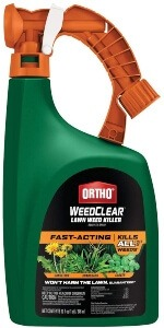 Ortho WeedClear Lawn Weed Killer Ready-to-Spray - Fast-Acting, Kills Dandelion, Crabgrass and Clover to the Root, Won't Harm Lawn