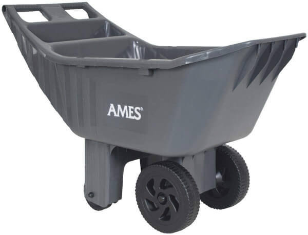 Ames Easy Roller Poly Yard Cart combines 4 cubic feet of capacity storage and four strong wheels