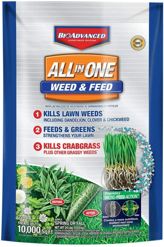 BioAdvanced Weed & Feed 100532514 Crabgrass Killer Science-Based Solutions Lawn Fertilizer