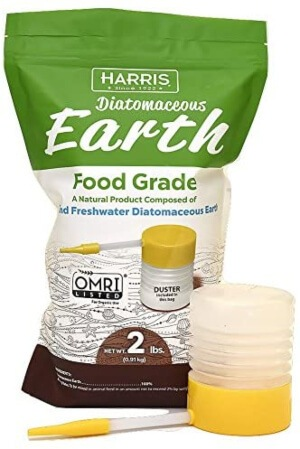 Diatomaceous Earth is an organic, safe, and non-toxic way to control spiders in your garden