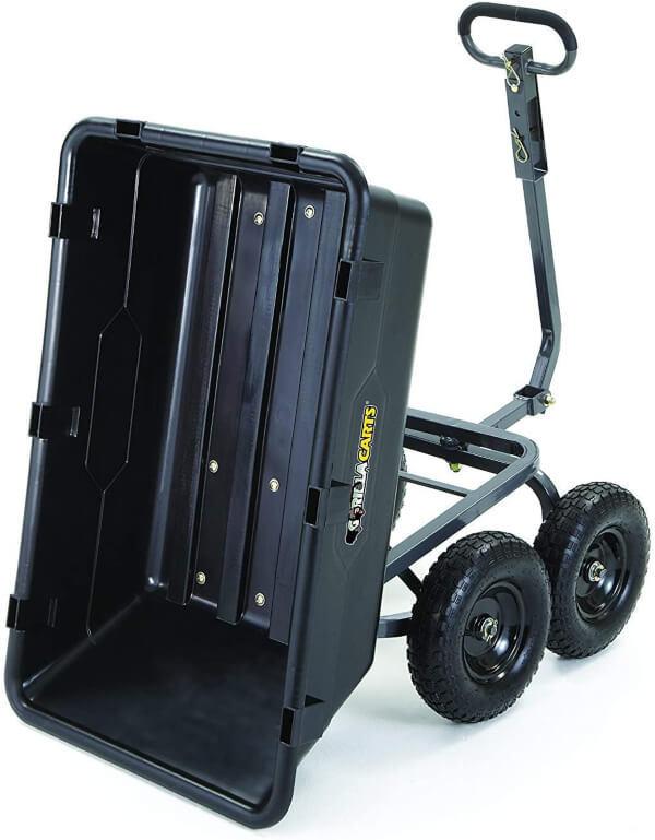 Gorilla Carts GOR6PS Heavy-Duty Poly Yard Dump Cart 2