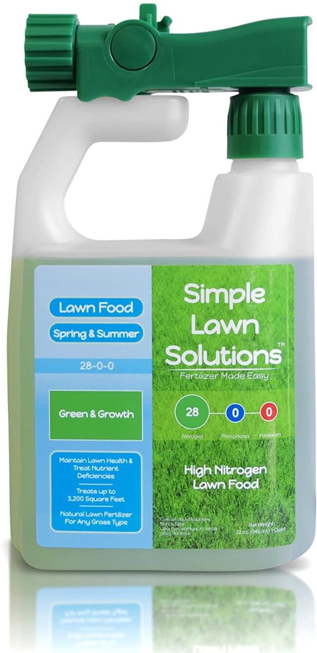 Maximum Green & Growth- High Nitrogen 28-0-0 NPK- Lawn Food Natural Liquid Fertilizer- Spring & Summer- Any Grass Type best lawn fertilizer in 2020