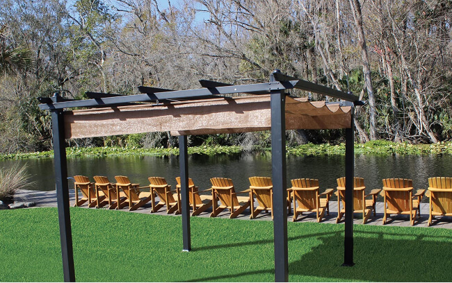 Pergola is an arched structure that can be set up in your backyard