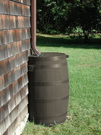 Rain barrels come in a range of sizes to suit your gardening space