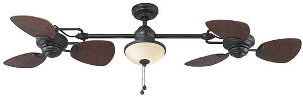 Harbor Breeze Twin Breeze Ii Oil-rubbed Bronze Outdoor Downrod Ceiling Fan
