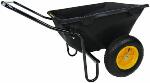 Polar Trailer 8449 Heavy Duty Cub Cart, 50 x 28 x 29-Inch 400 Lbs Load Capacity 7 Cubic Feet Tub Rugged Wide-Track Tires Utility and Hauling Cart