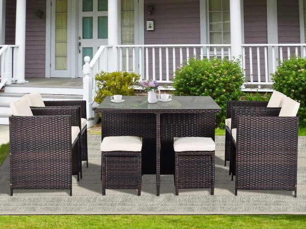 latest garden dining sets come in a huge range of designs and materials