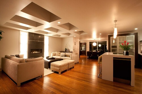 Bamboo floors are slightly less common in western countries but are commonly seen throughout Asia