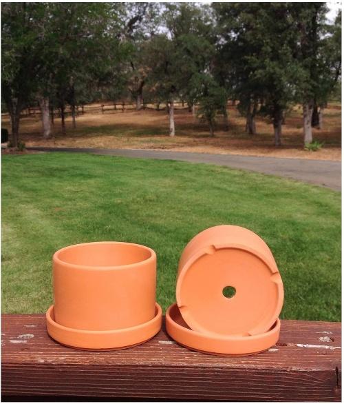Natural terracotta pot