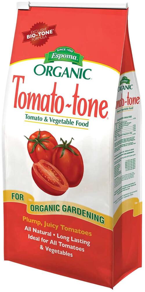 Tomato-tone Organic Fertilizer is consist of 6% soluble potash, 4% phosphate, and 3% nitrogen