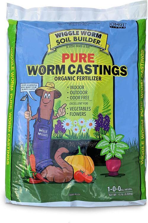 Unco Industries Wiggle Worm Soil Builder Earthworm Castings Organic Fertilizer is one of the purest fertilizers