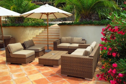Clean outdoor furniture