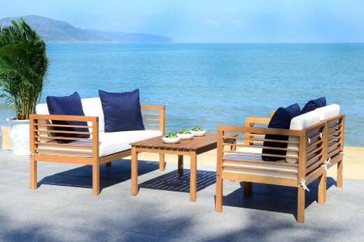 Teak wood is an appropriate material for your outdoor furniture